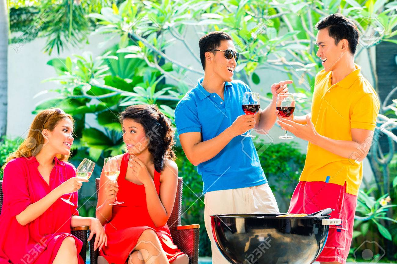 Bbq Party Pool Party Images & Stock Pictures. Royalty Free Bbq ...