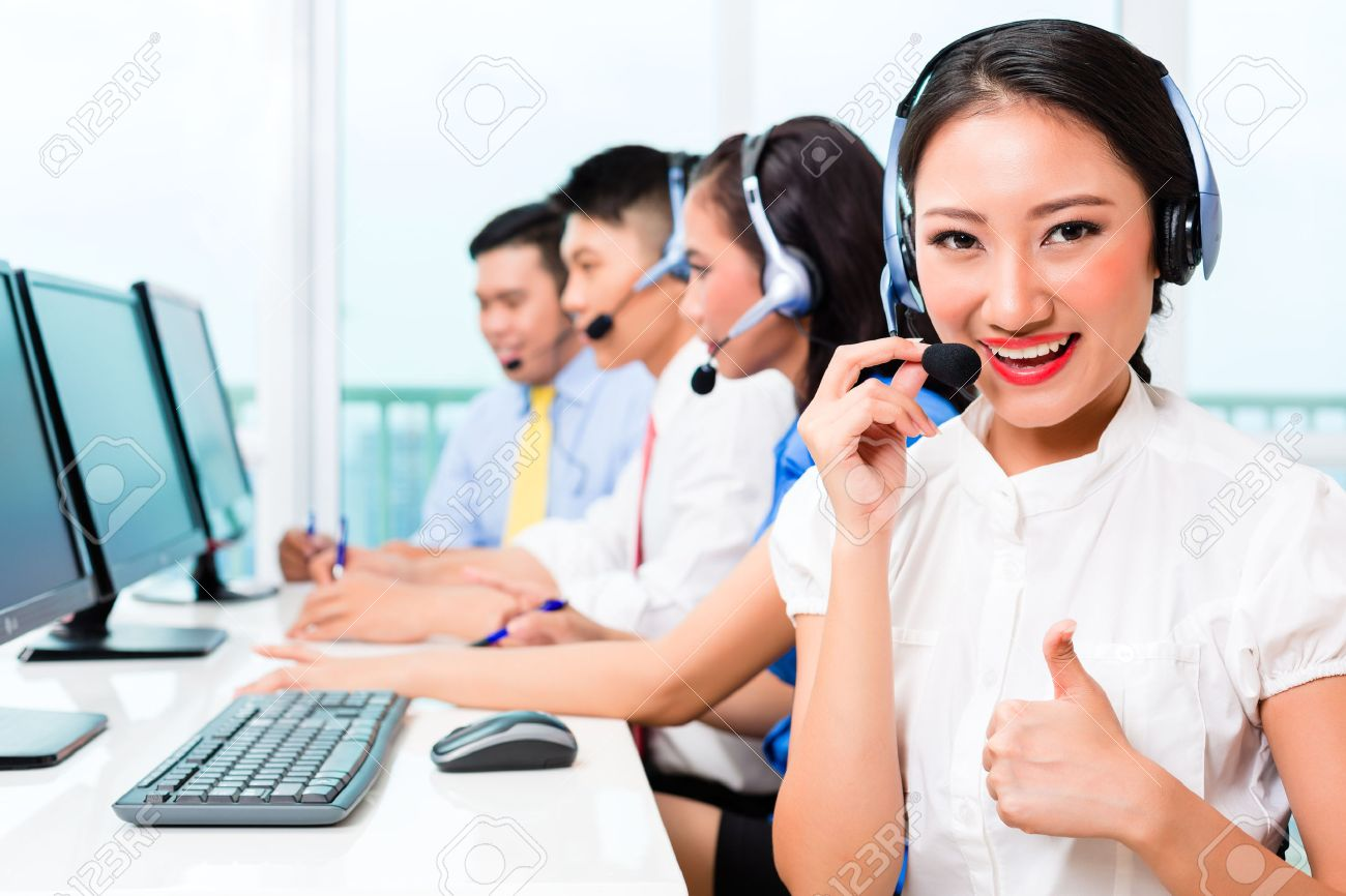 Call Center -Customer Support Line Representative
