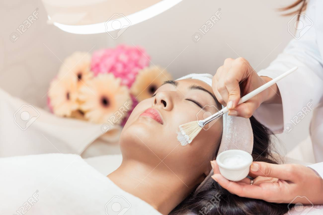 Close Up Of The Face Of A Beautiful Young Asian Woman Relaxing Stock Photo Picture And Royalty Free Image Image 98146048