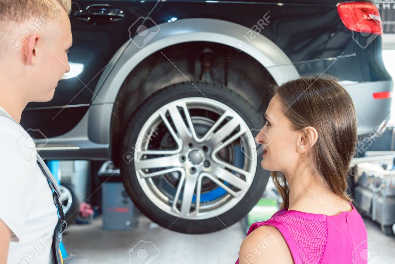 Reliable Auto Mechanics >> Beautiful Woman Looking Happy At A Handsome And Reliable Young