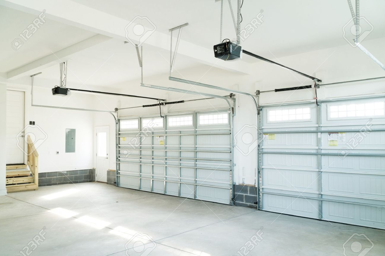 large three car garage interior stock photo picture and royalty