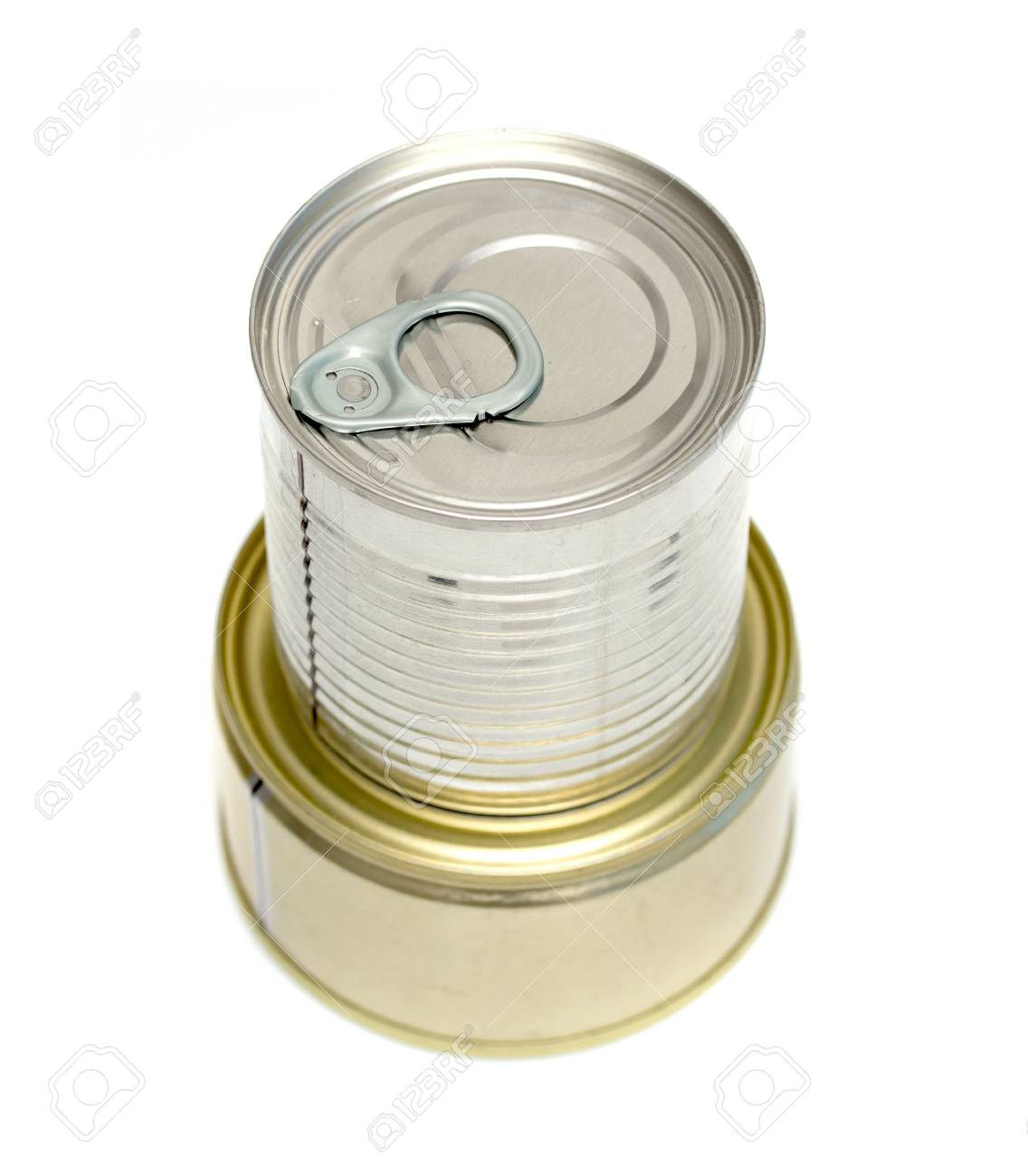 canned meat on a white background Stock Photo - 20734097