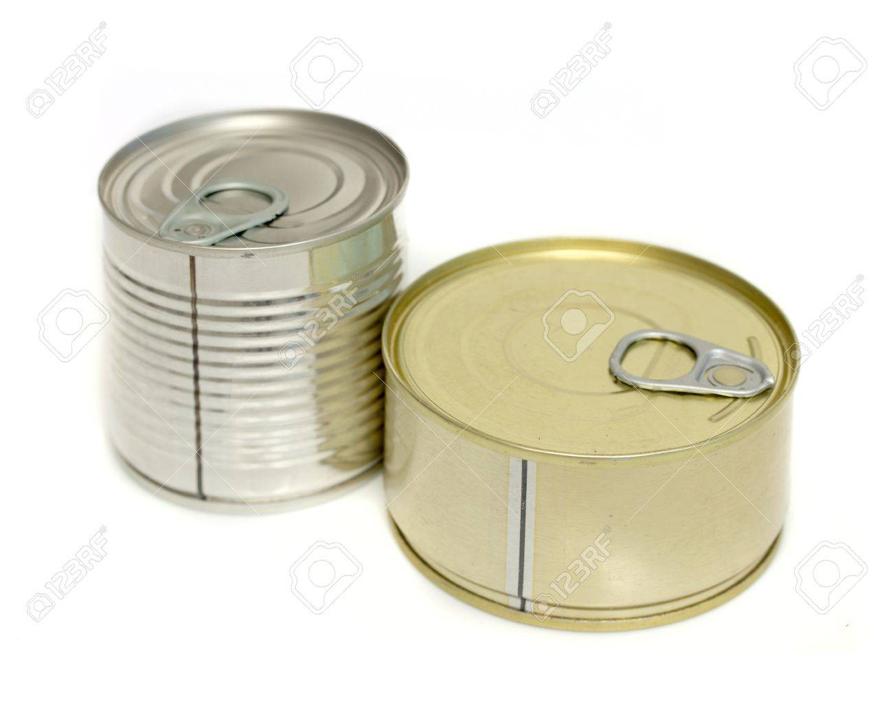 canned meat on a white background Stock Photo - 20813715