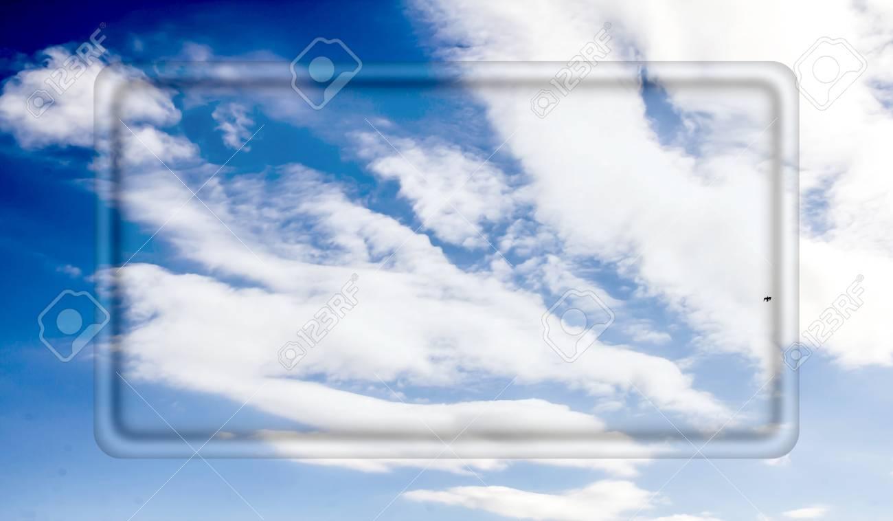 Transparente Rahmen Für Ihren Text Auf Einem Hintergrund Des Blauen ...