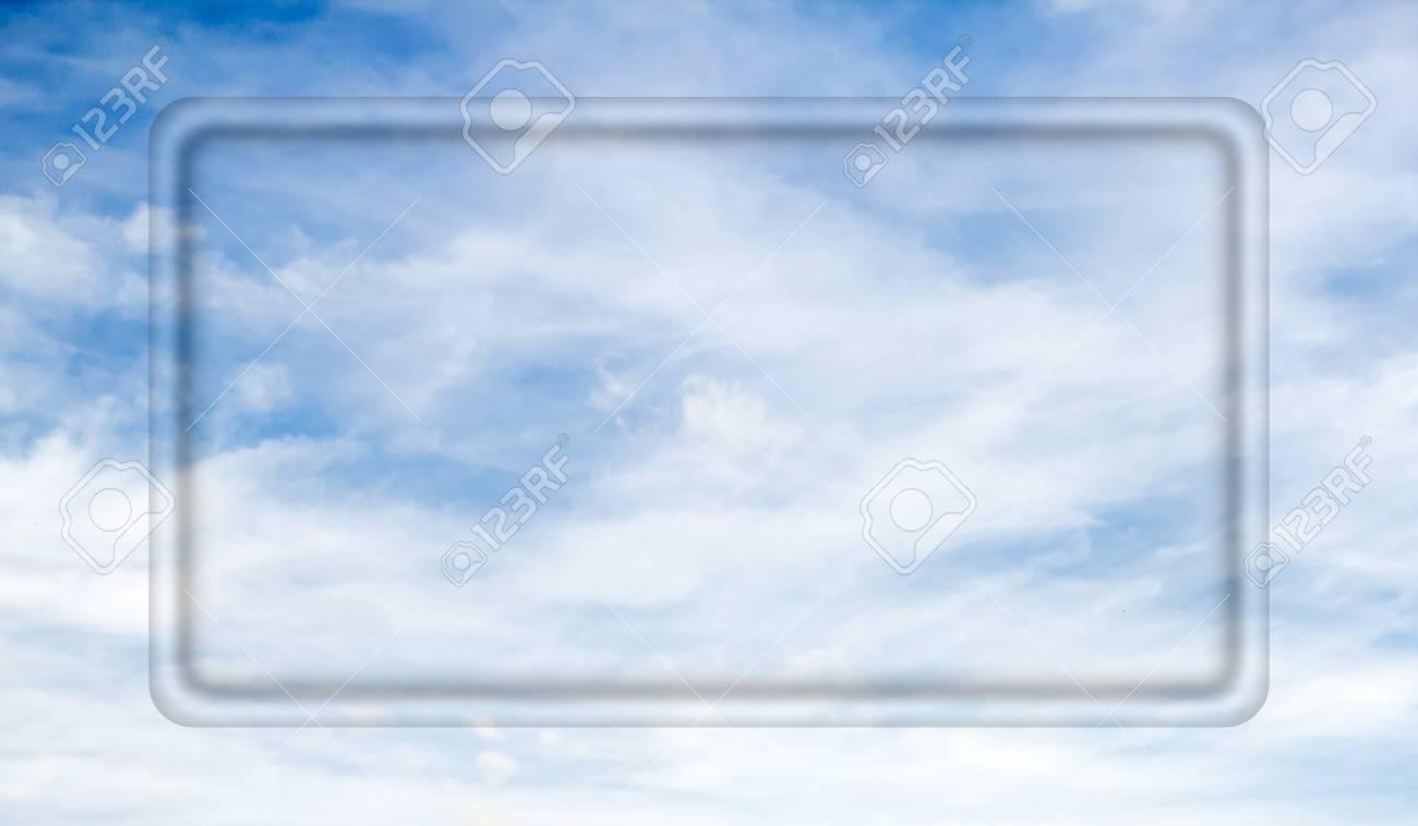 Transparenten Rahmen Für Ihren Text Auf Einem Hintergrund Des Blauen ...
