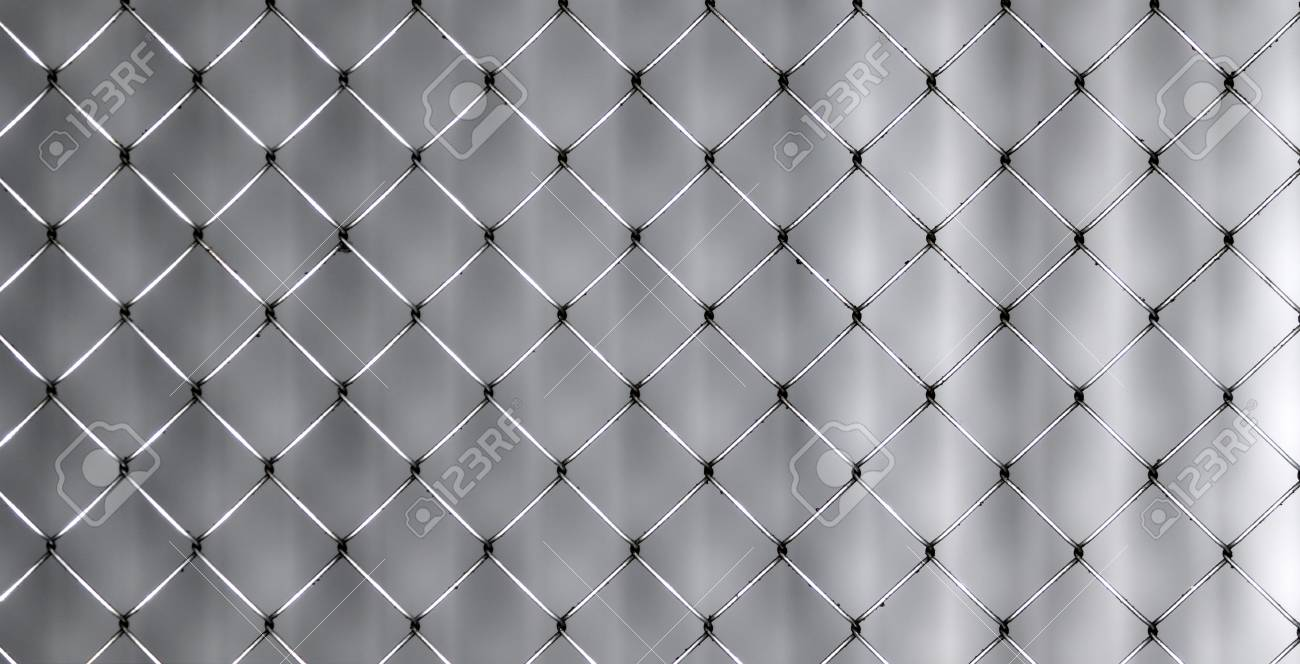 Closeup Of Wire Mesh Fence With Selective Focus Stock Photo, Picture ...