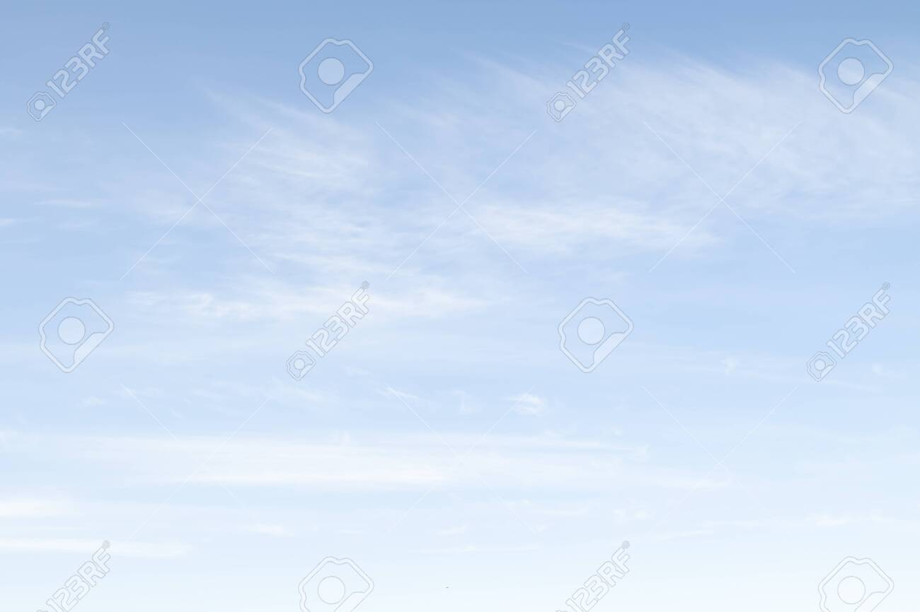 Daytime blue sky with white clouds. Sky background - 124450389