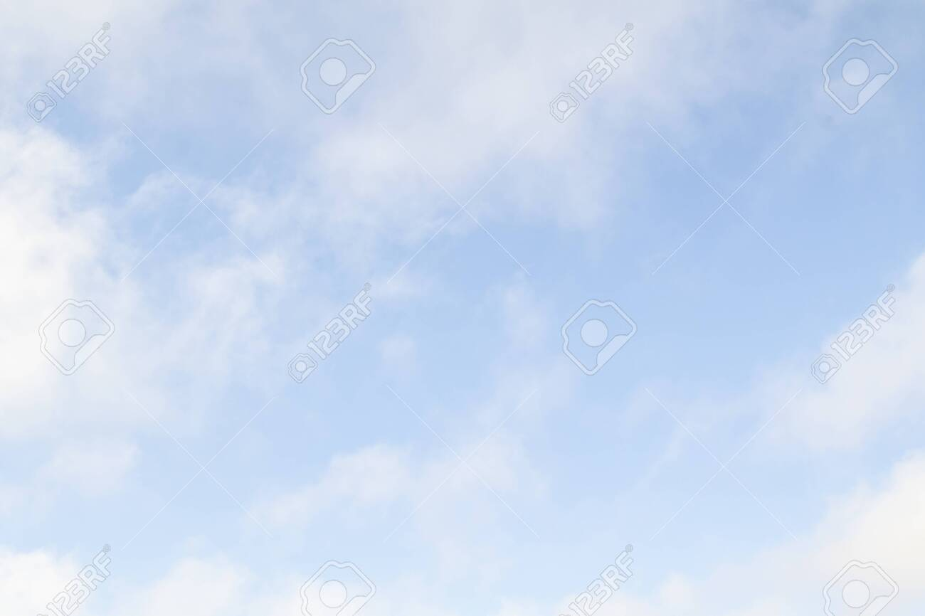 White fluffy clouds do not have a blue sky. - 124299836
