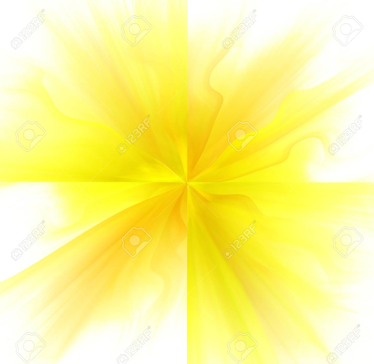 Abstract White Background With Orange And Yellow Color Flower