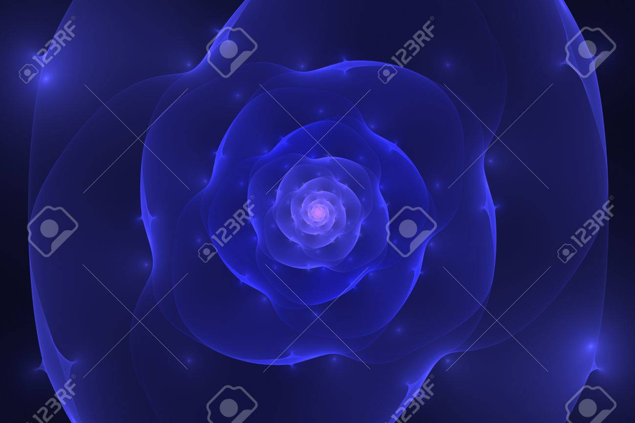Abstract black background with blue and purple glowing flower abstract black background with blue and purple glowing flower closeup texture fractal pattern stock photo izmirmasajfo