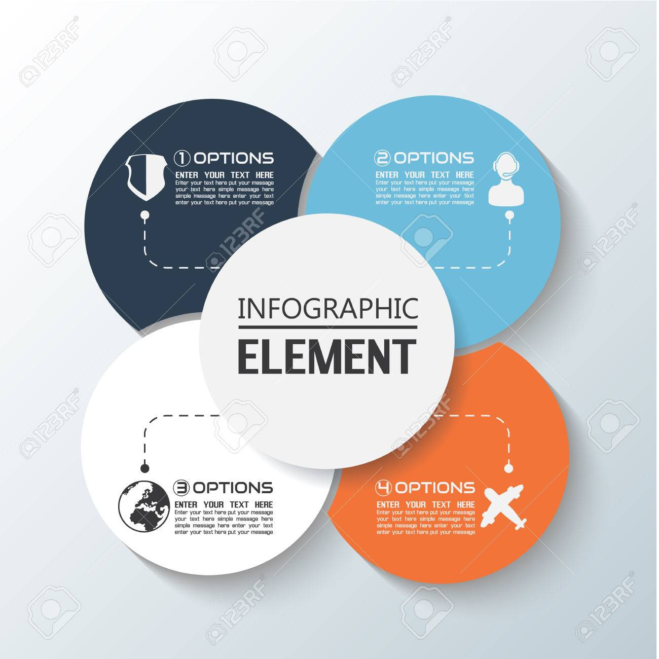 ELEMENT FOR INFOGRAPHIC CHART TEMPLATE GEOMETRIC FIGURE RIMS – Element Chart Template