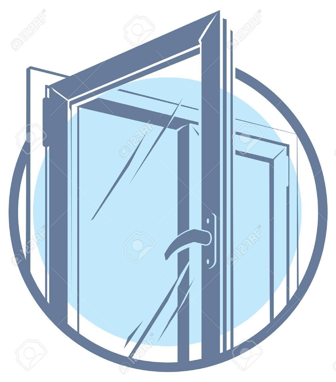 Vector plastic window icon - 50449013