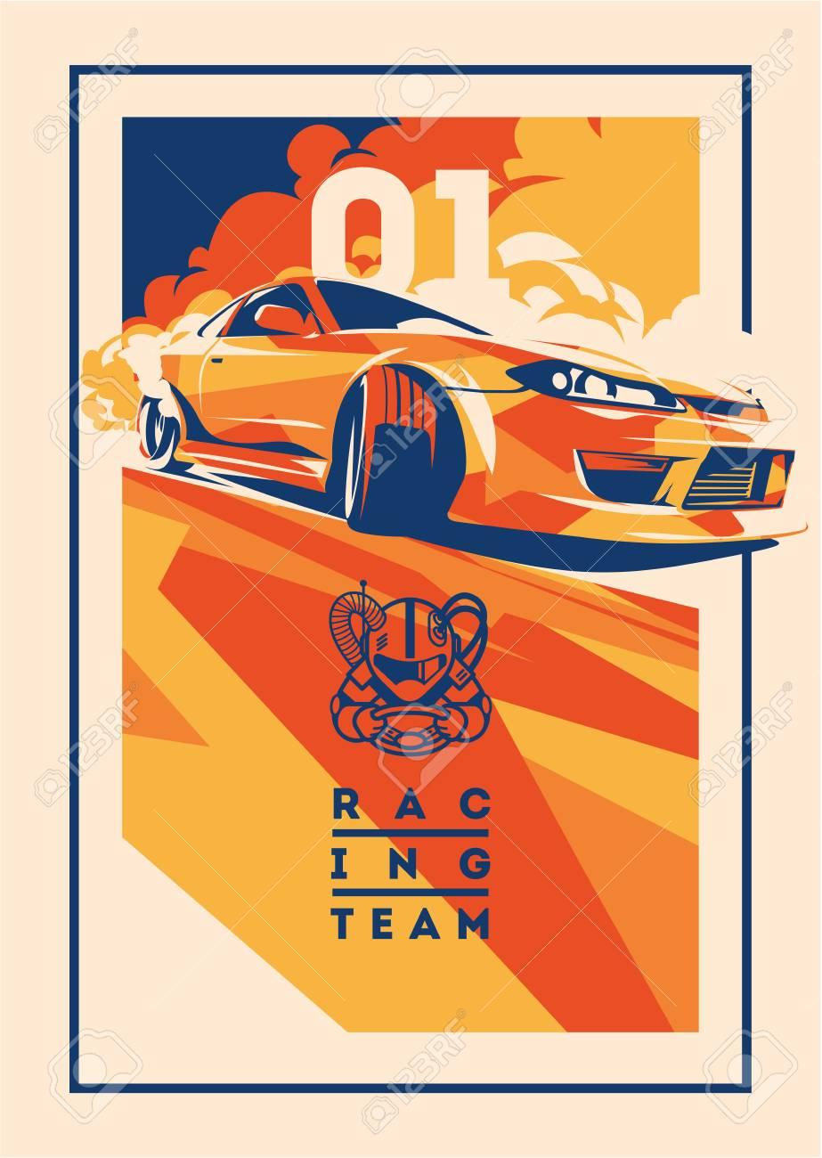 Burnout car, Japanese drift sport, Street racing - 99690298