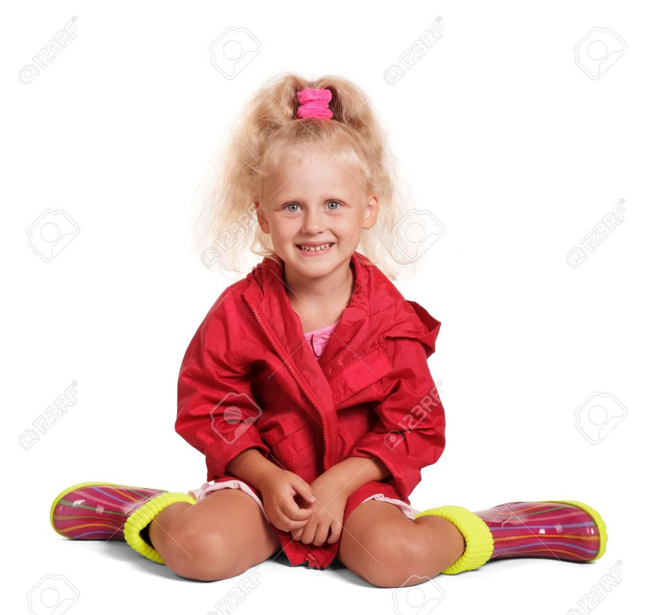 Veste rouge petite fille