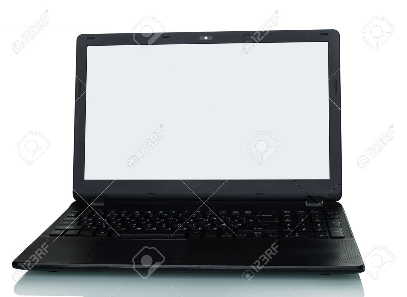 Modern laptop computer isolated on white background - 141941324
