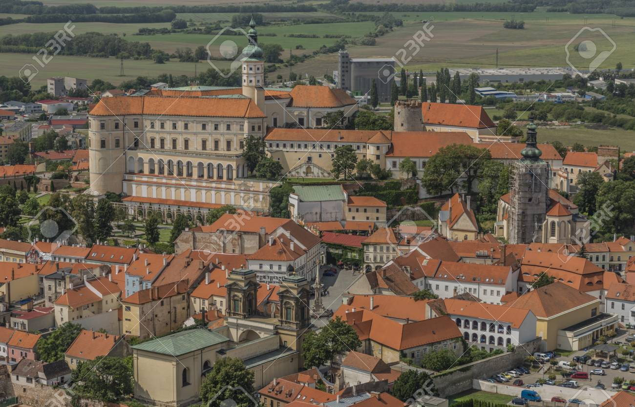 Mikulov Town In South Moravia Region In Summer Day Stock Photo ...