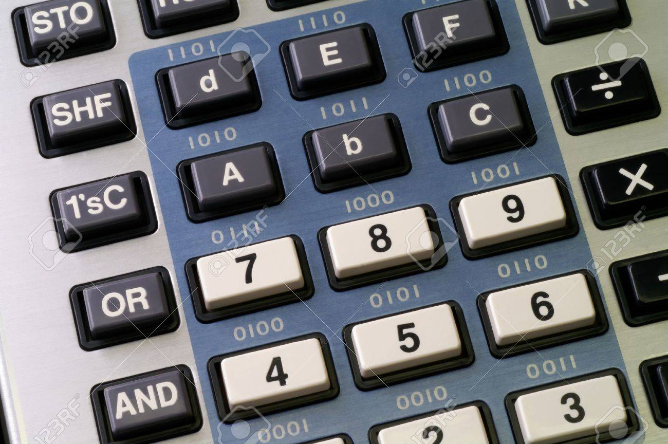 Programmer's calculator with hexadecimal and logic functions