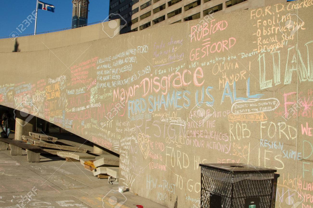 TORONTO - NOVEMBER 13 - Writings On The Wall Outside At Nathan ...