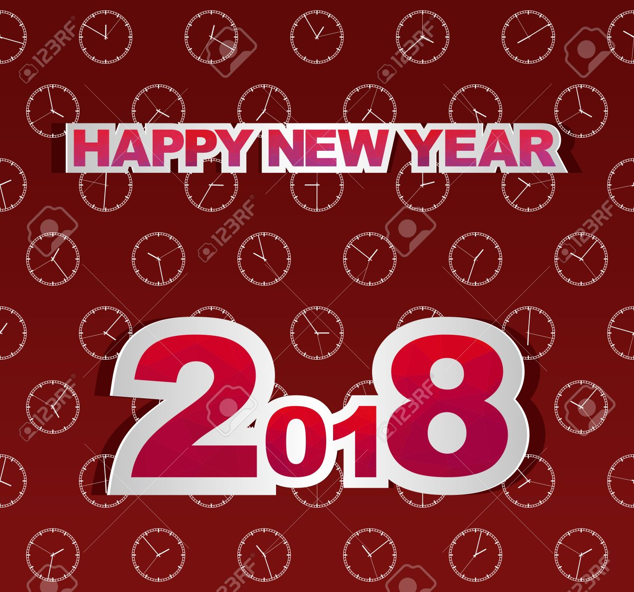 Dark Red New Year Greetings For 2018 With White The Watch Different