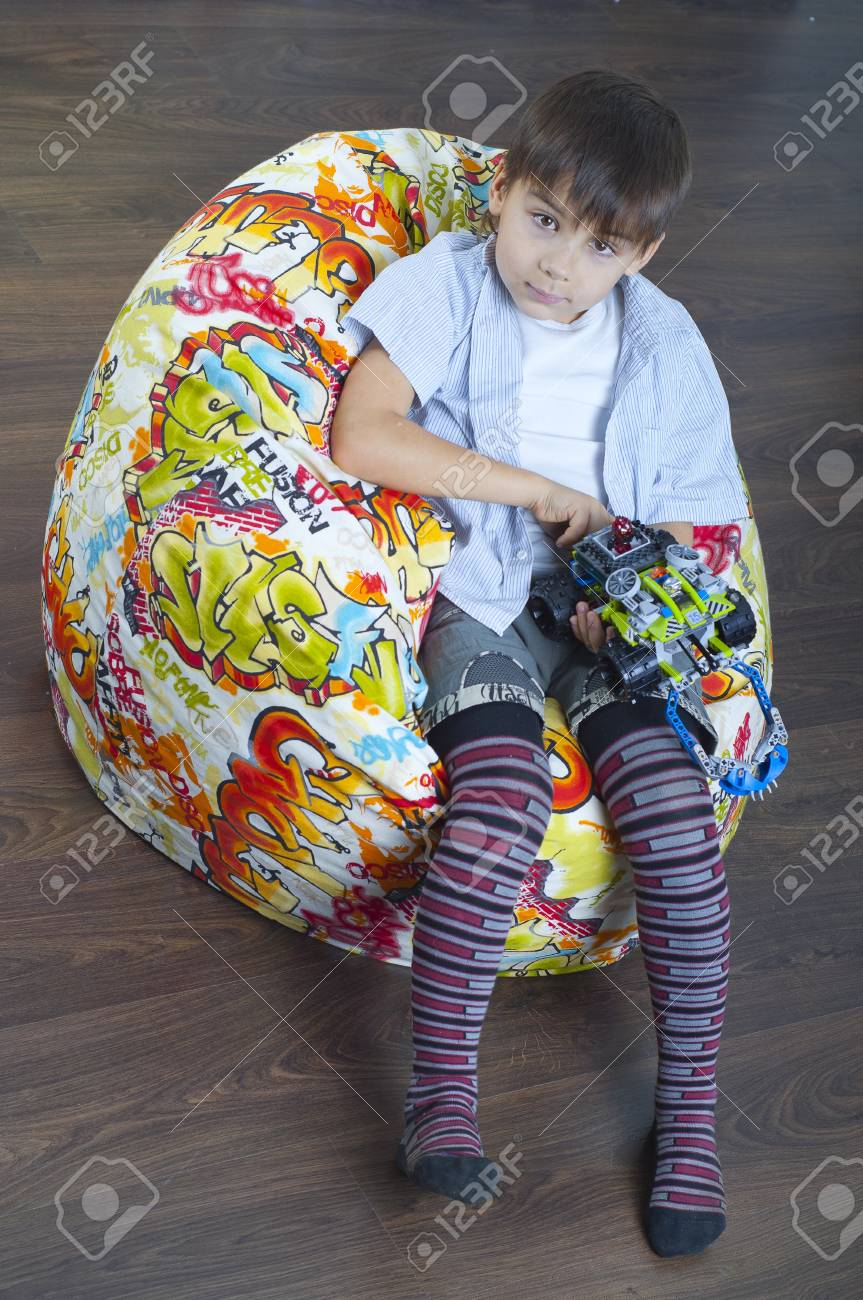 Young boy with a toy Stock Photo - 11954801