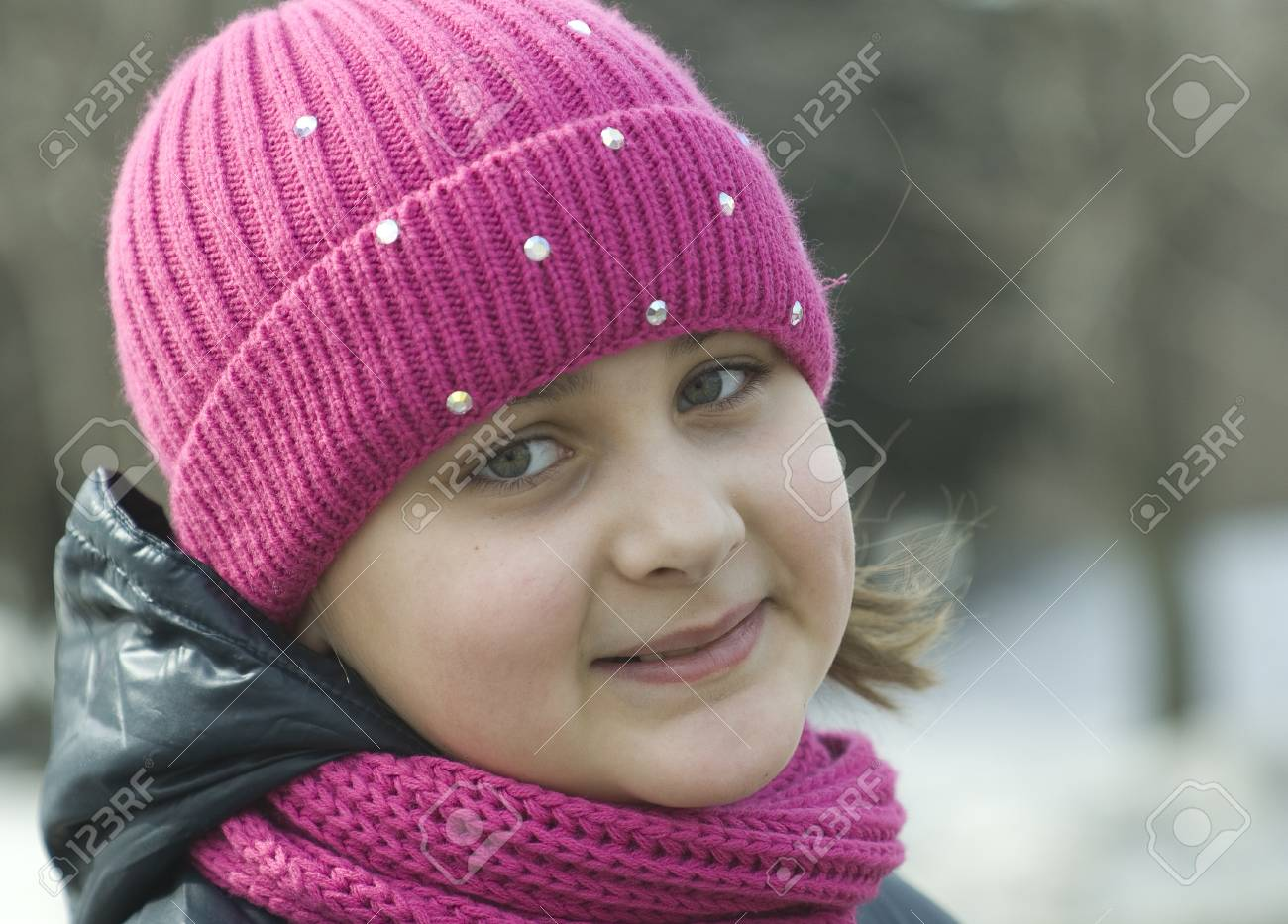 Portrait of the smiling girl Stock Photo - 12063557