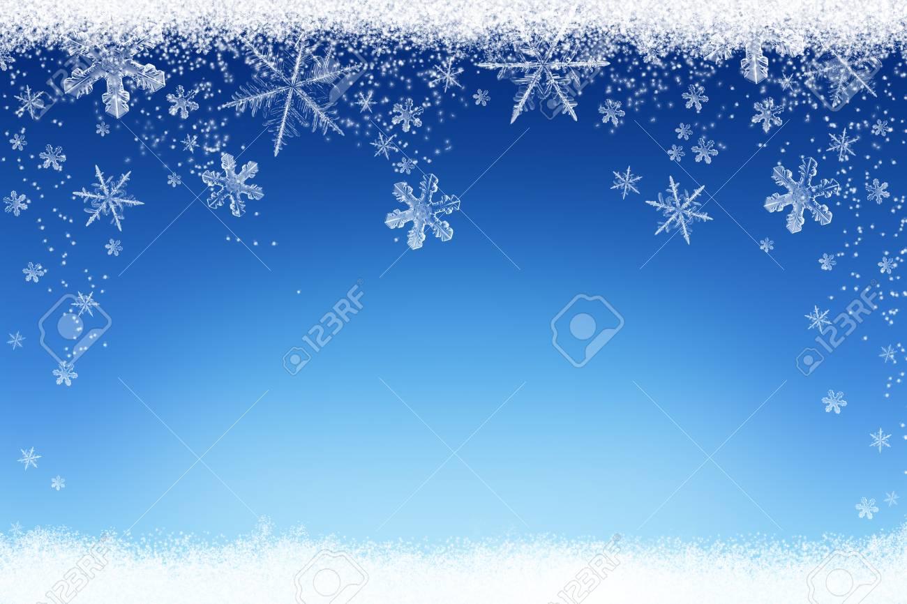 Priorità Bassa Di Inverno Di Natale Con Neve E Fiocchi Di Neve Foto