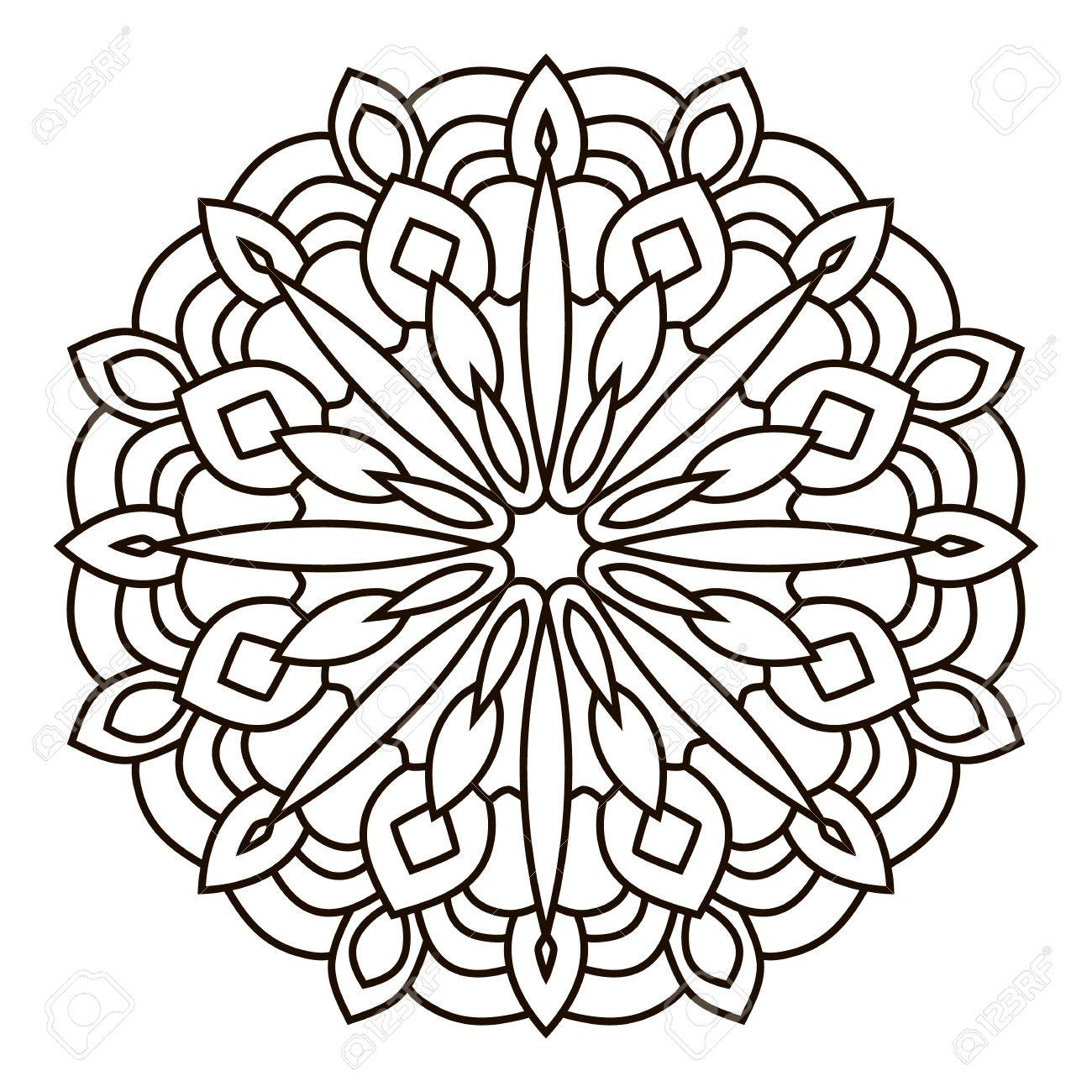 Oriental pattern coloring page