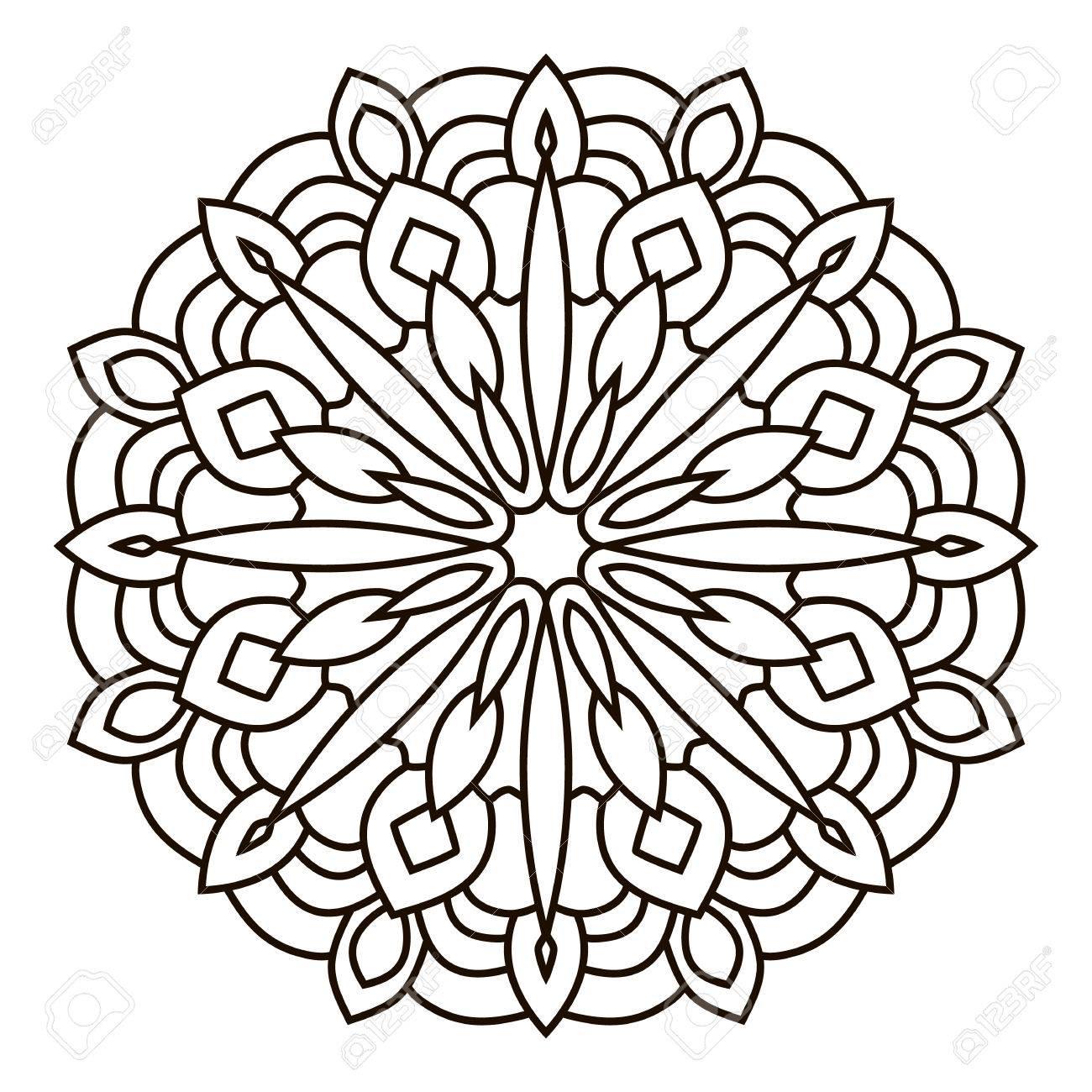 Symmetrische Kreisförmigen Muster Mandala Orientalische Muster