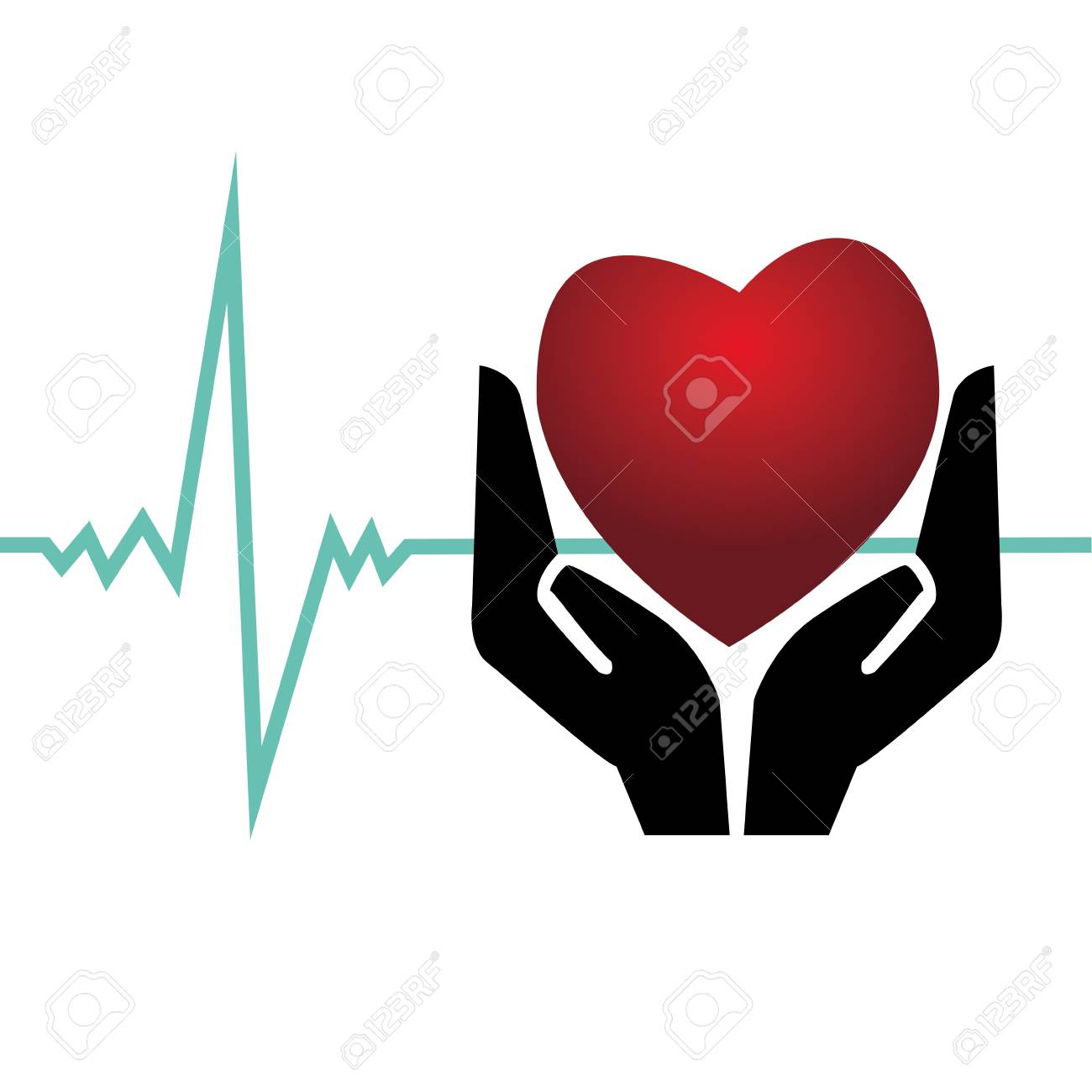 Zusammenfassung Herz In Professionelle Hände Auf Weißem Hintergrund ...