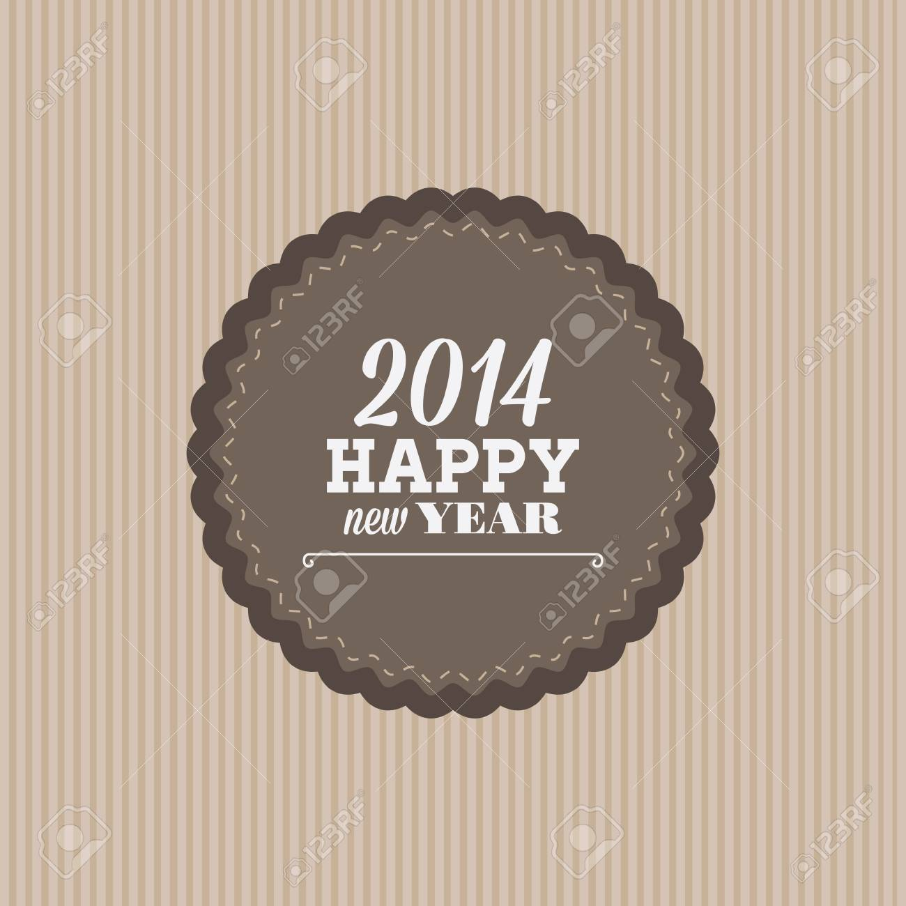abstract happy new year label on a special background stock vector 24770419