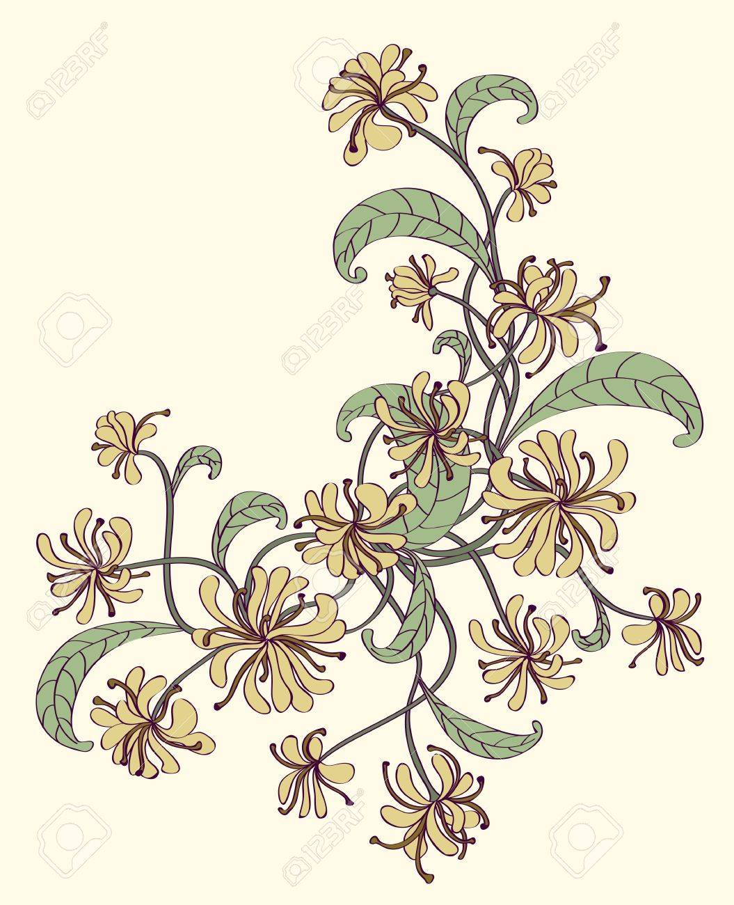 Decorative flower corner. Stock Vector - 17479344