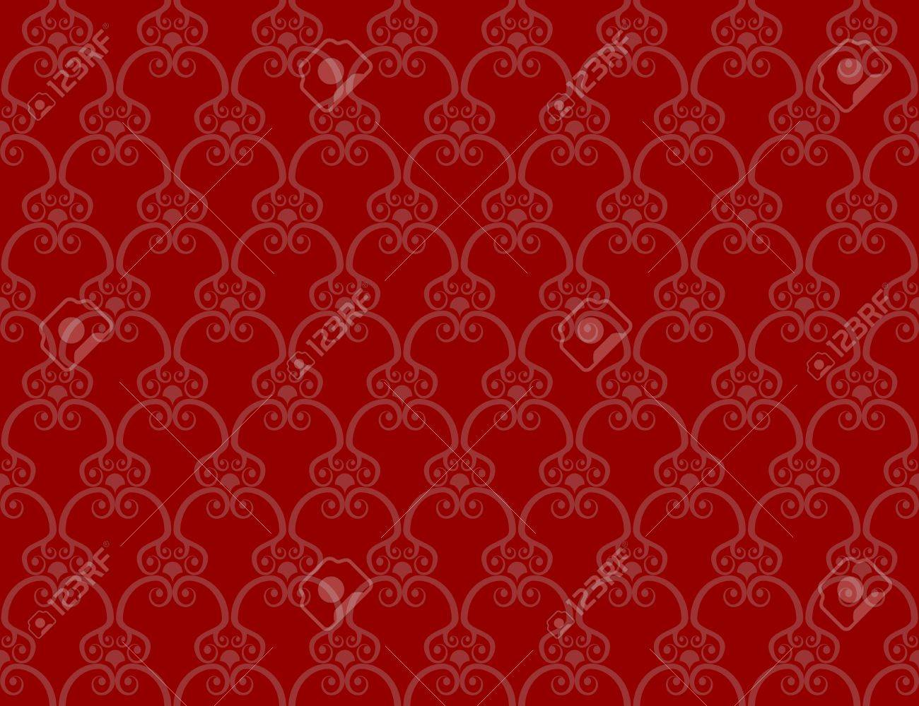Retro Wallpaper Red Seamless Background