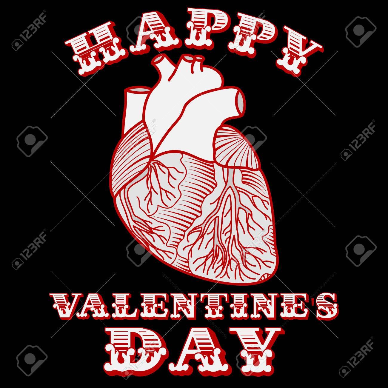 Tarjeta De San Valentín Con El Corazón Anatómico Sarcástico ...