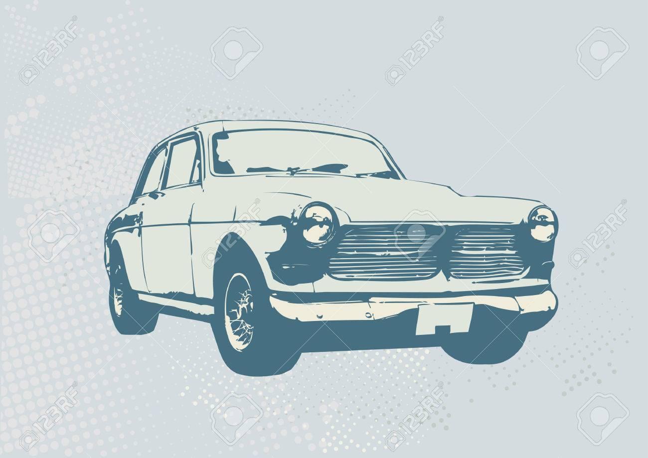 Vector Illustration of old vintage custom collector's car - 1830625