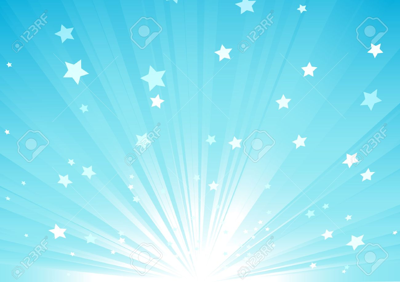 Abstract Blue Background With Rays Sparkles. Animation Blue ...