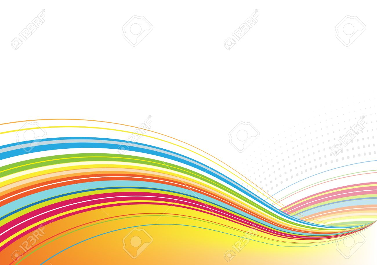 Vector Illustration Of Abstract Background Made Of Colorful Rainbow