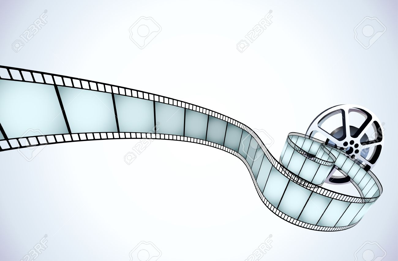 Vector Illustrator Of Movie Reel With A Strip Of Exposed Frames ...