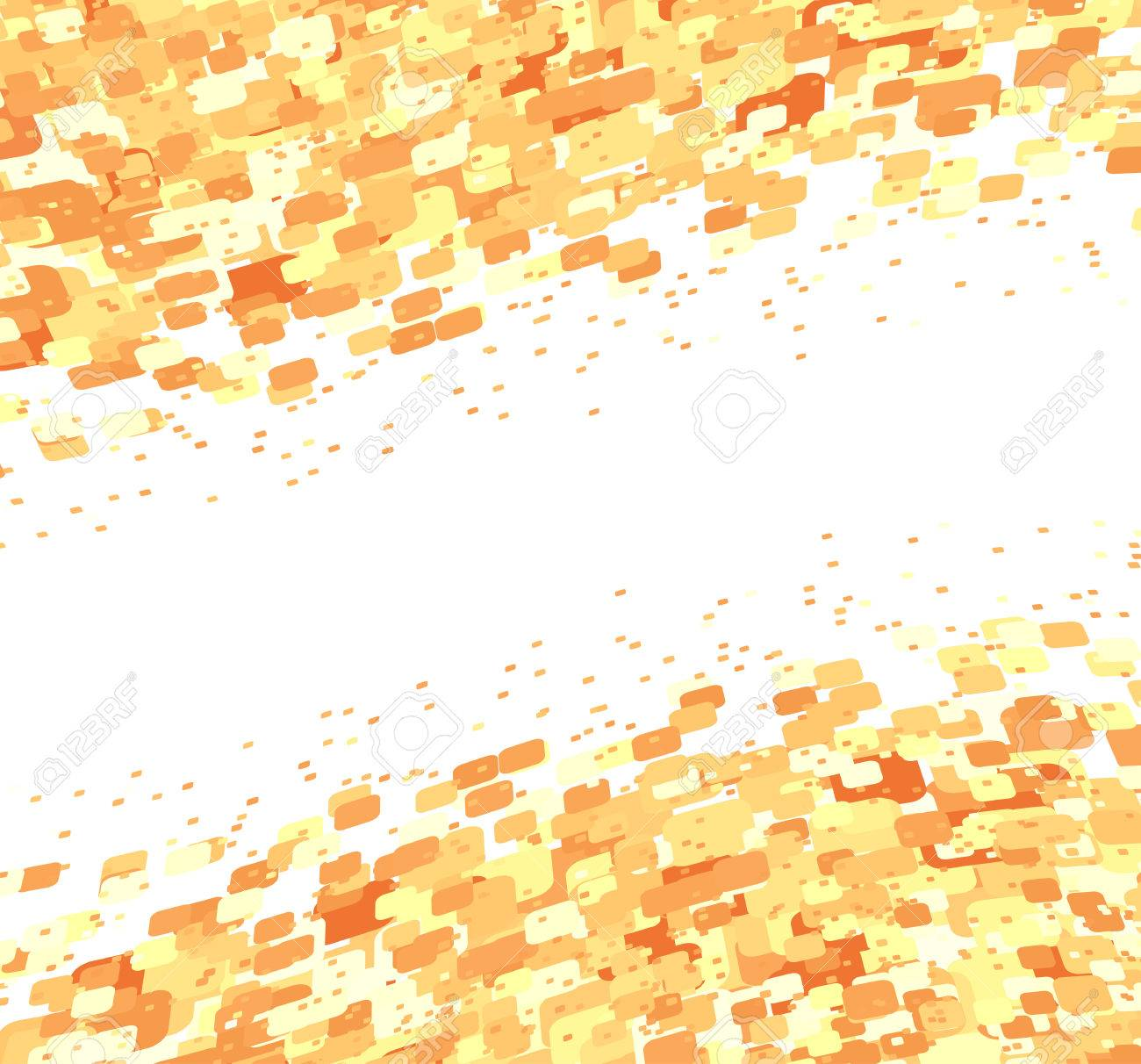 Vector illustration of organic wave surface made of brown squares Stock Vector - 5184794
