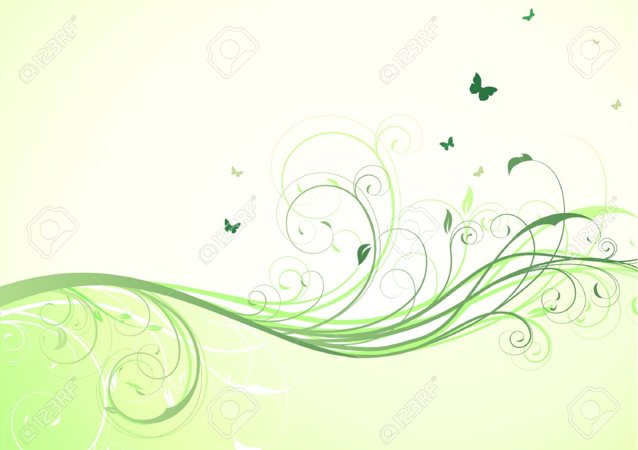illustration of abstract green floral Background Stock Vector - 8139774