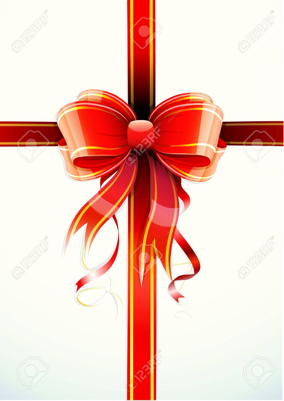 Vector illustration of gift wrapped white paper with a red ribbon vector illustration of gift wrapped white paper with a red ribbon and funky bow negle Image collections