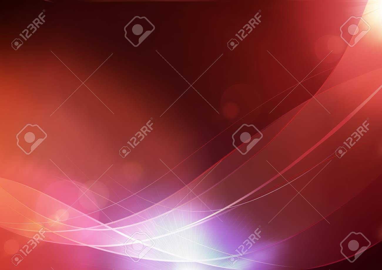 illustration of red abstract background made of light splashes and curved lines Stock Vector - 8686681