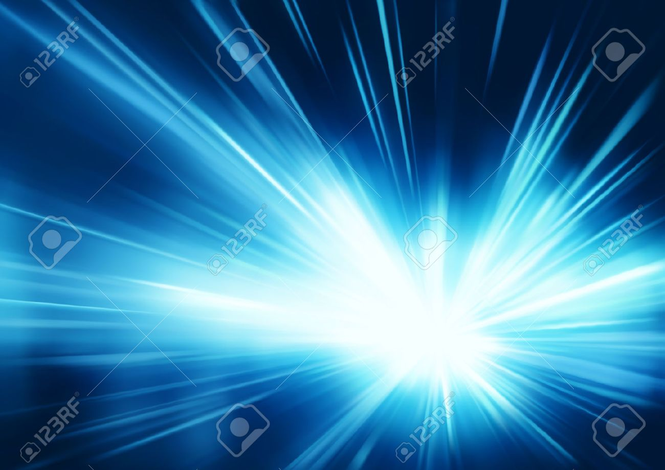 Vector illustration of abstract background with blurred magic neon blue light rays - 8906858