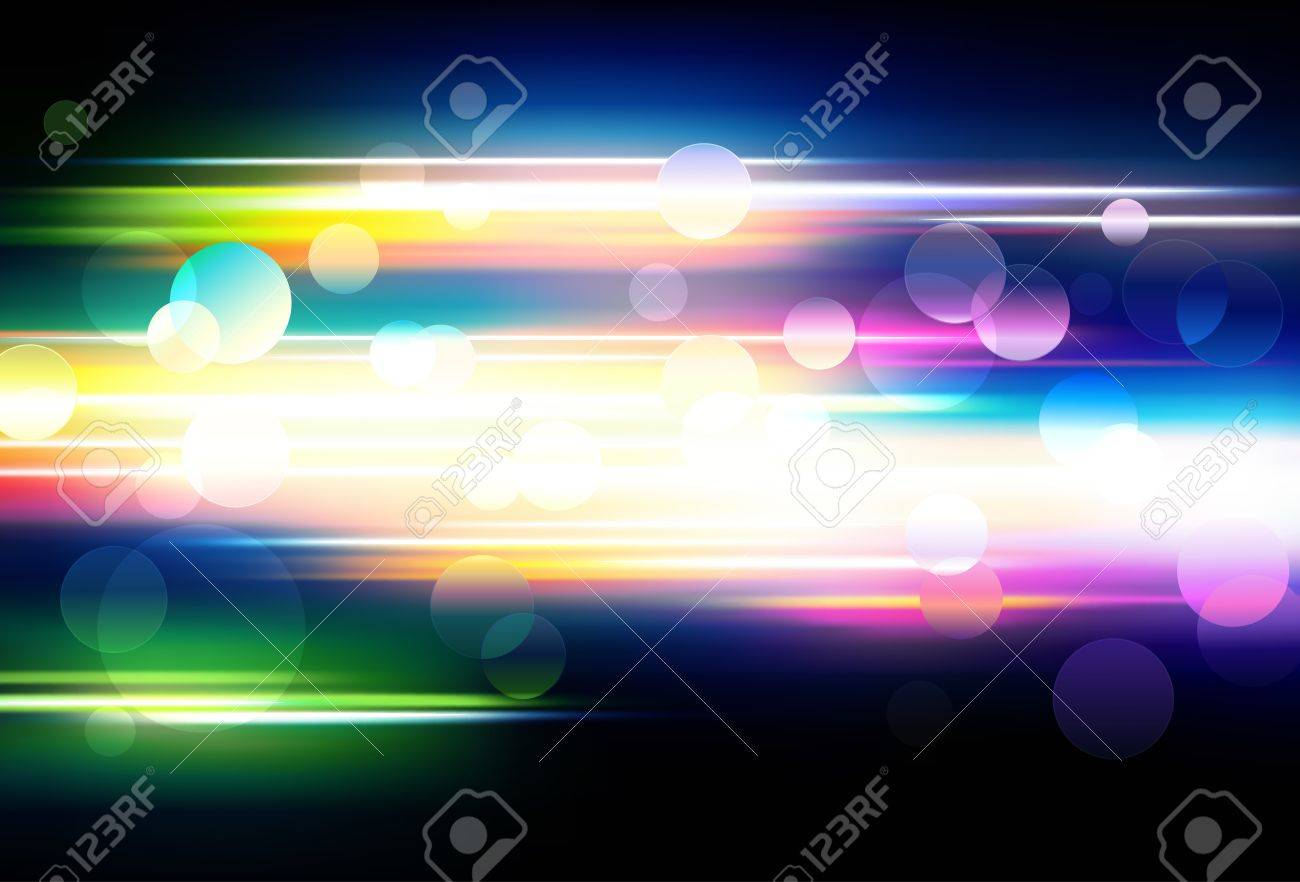 Vector illustration of abstract background with blurred magic neon color lights Stock Vector - 9334104