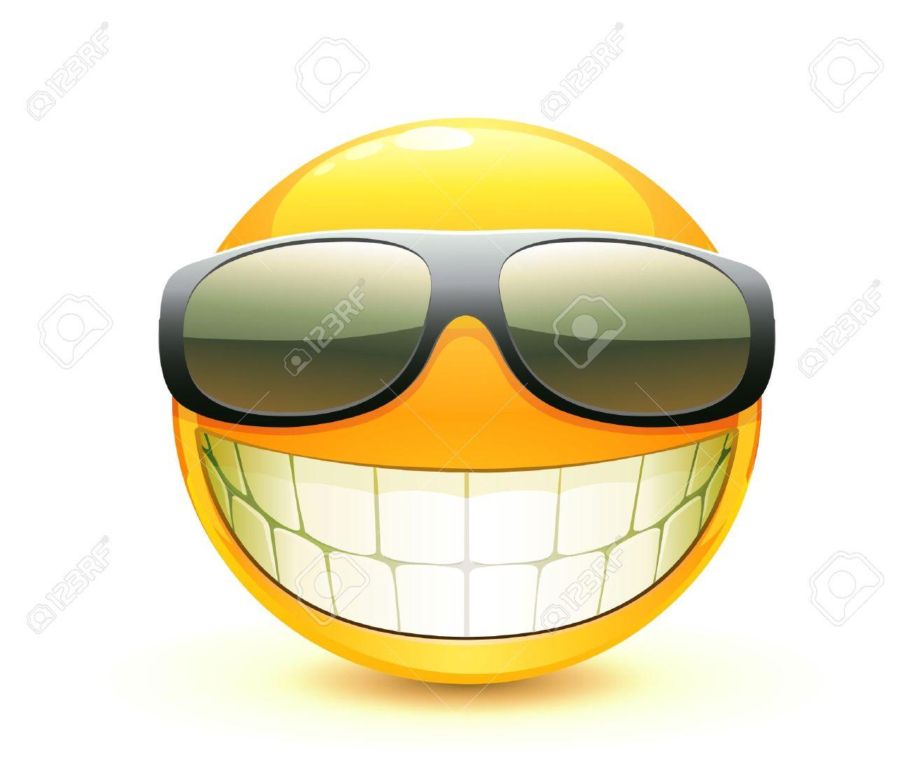 Vector illustration of cool glossy Single Emoticon Stock Vector - 9525294