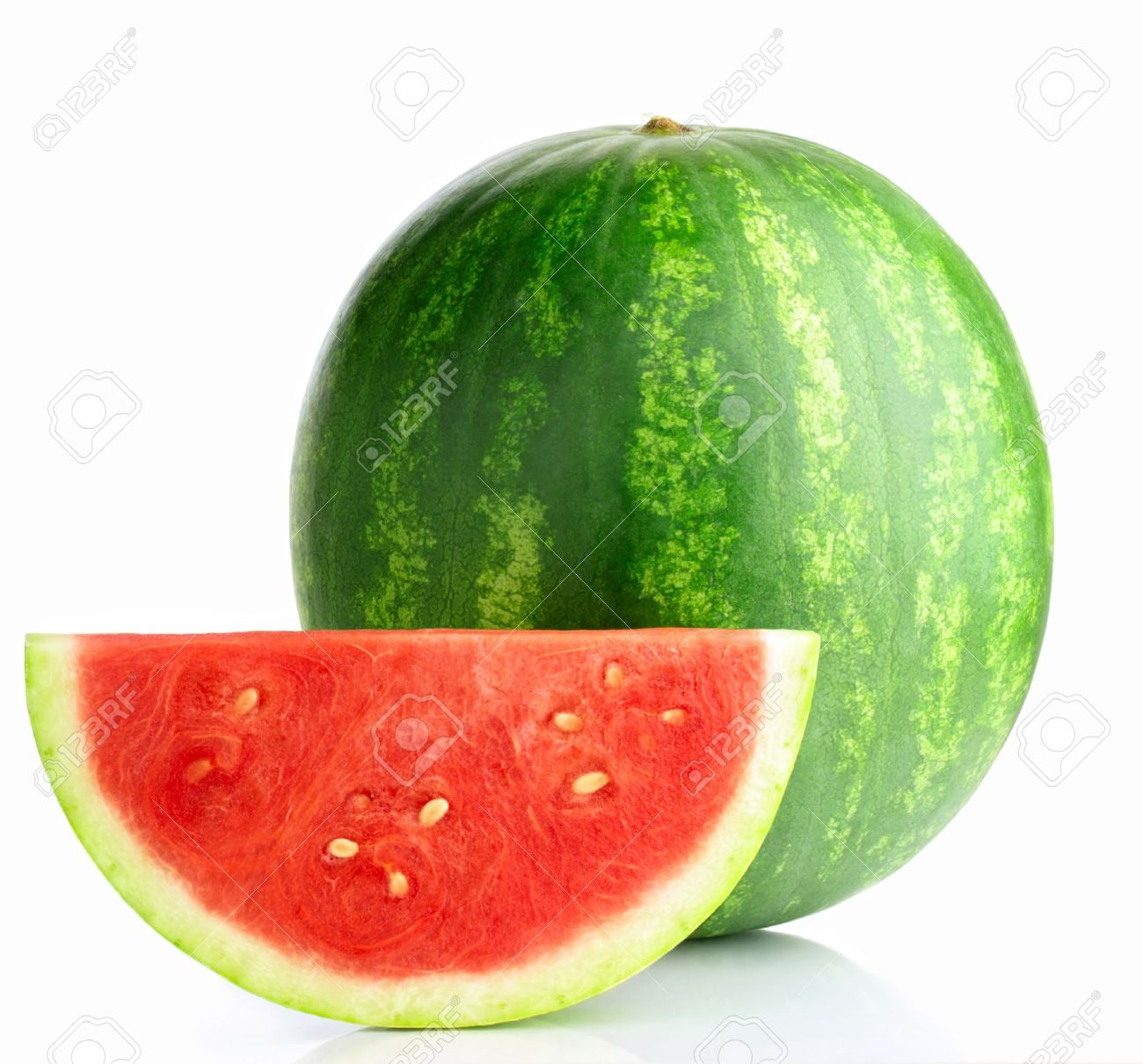 Watermelon isolated on white background Stock Photo - 9654112