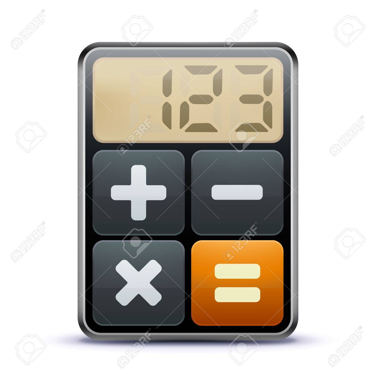 Vector illustration of business concept with calculator icon Stock Vector - 11514095