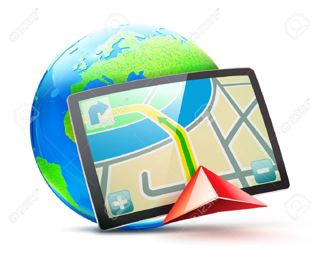 illustration of global positioning system concept Stock Vector - 11666556