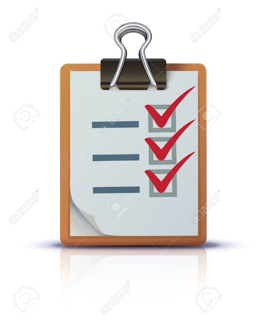 Vector illustration of cool check list on clipboard Stock Vector - 12493393