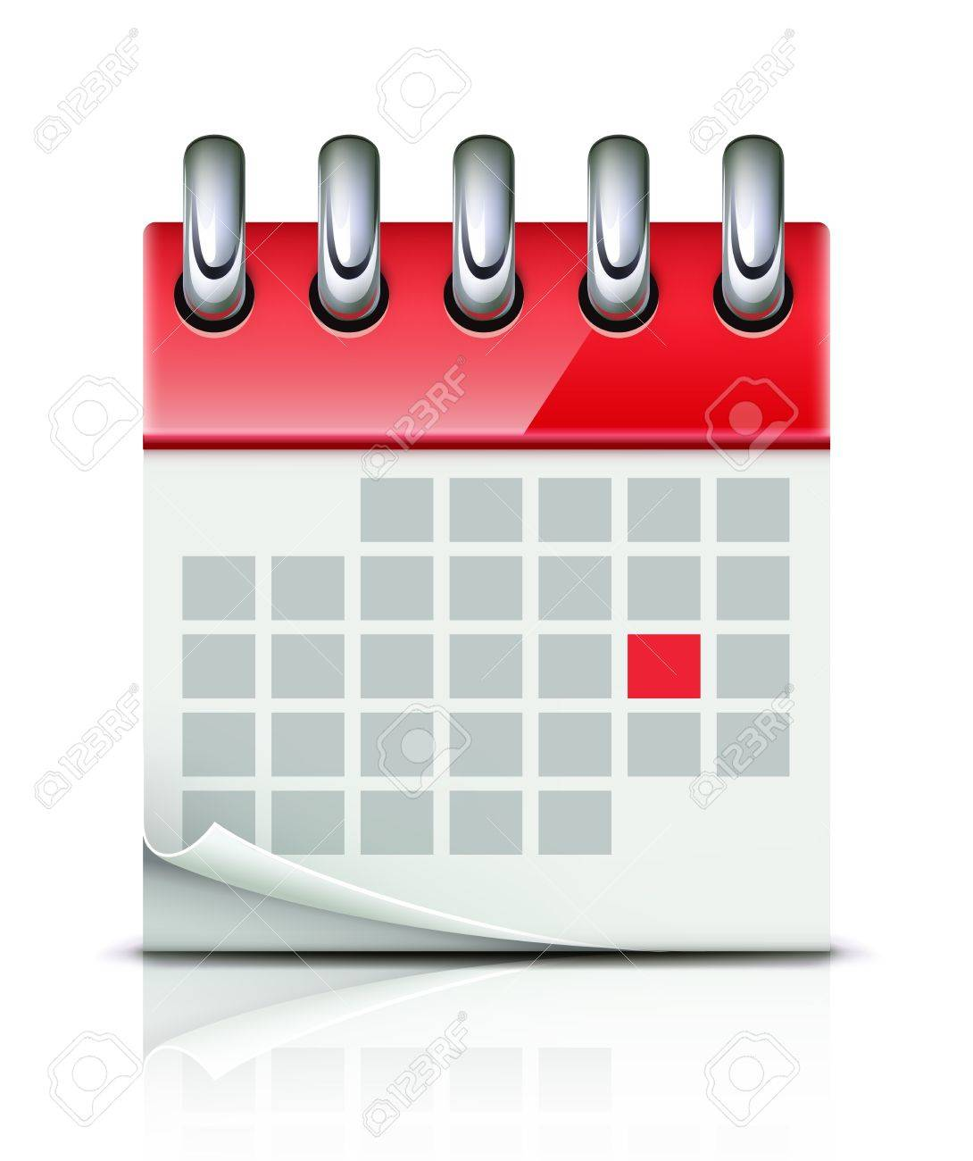 Illustration Calendrier.Illustration Of Detailed Beautiful Calendar Icon