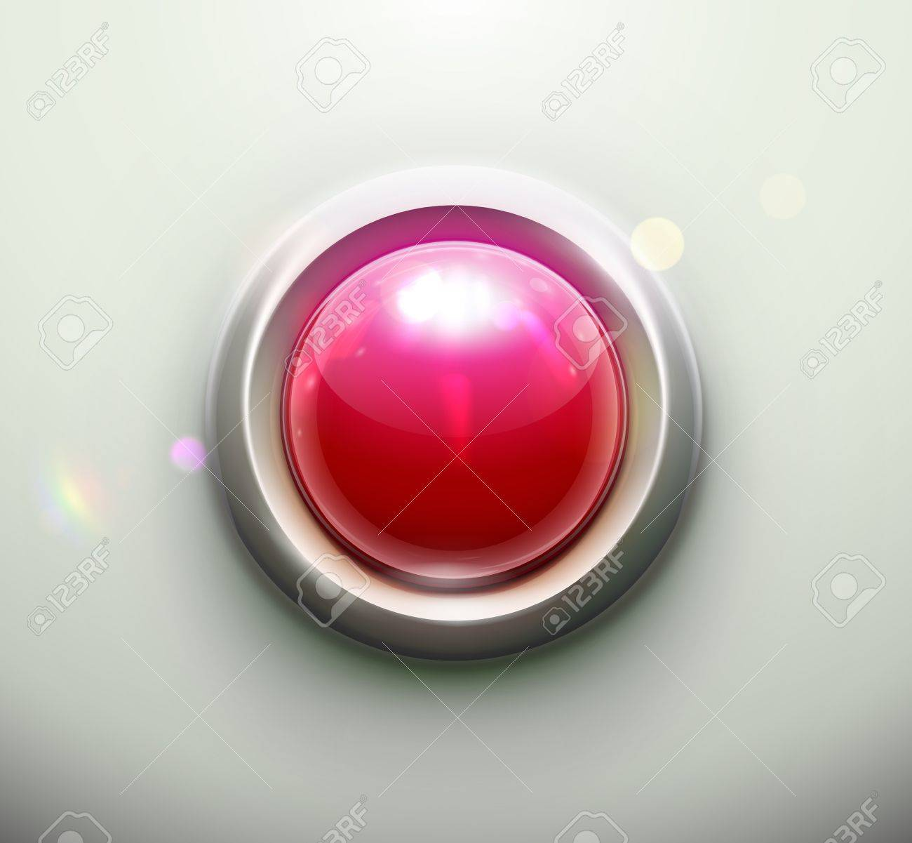 illustration of shiny red emergency button Stock Vector - 15064188